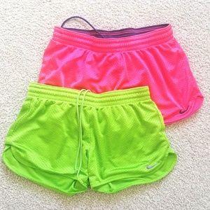 2 pairs of Women's Mesh Nike Shorts size small